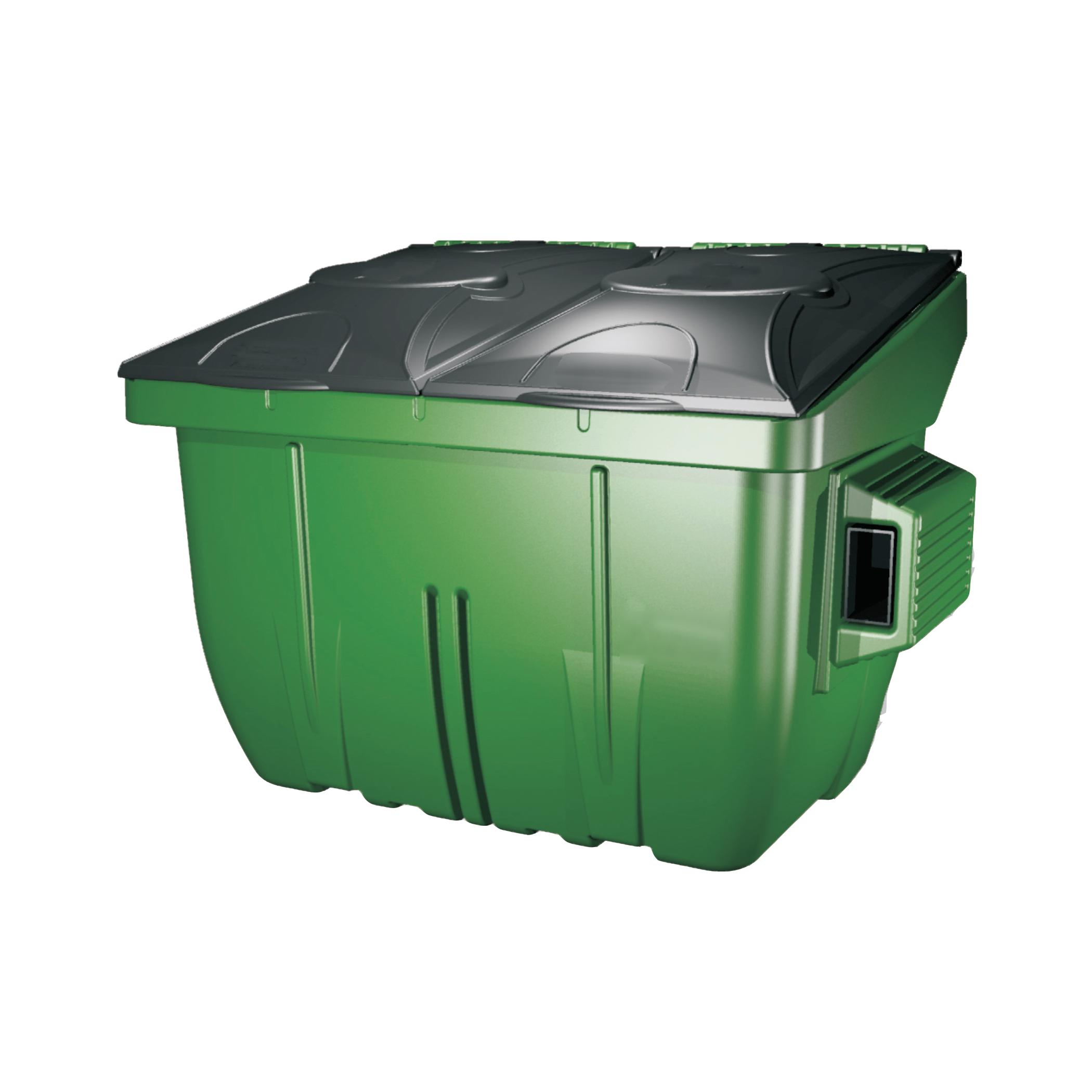 4 yard waste management dumpster dpi plastic carts - Garden waste containers ...